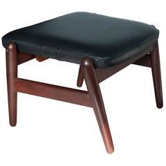Elegant 1950s Footstool by Ib Kofod-Larsen for Carlo Gahrn