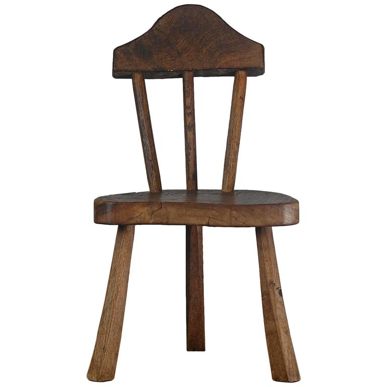 Early 20th Century Primitive Stick Back Chair