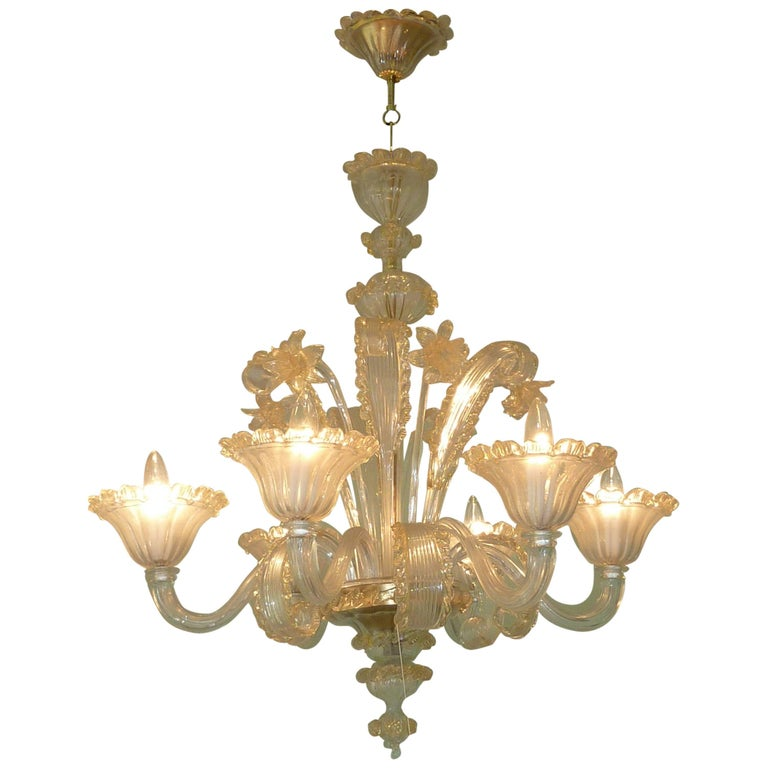 Amazing Murano Chandelier by Cesare Toso - Italy For Sale