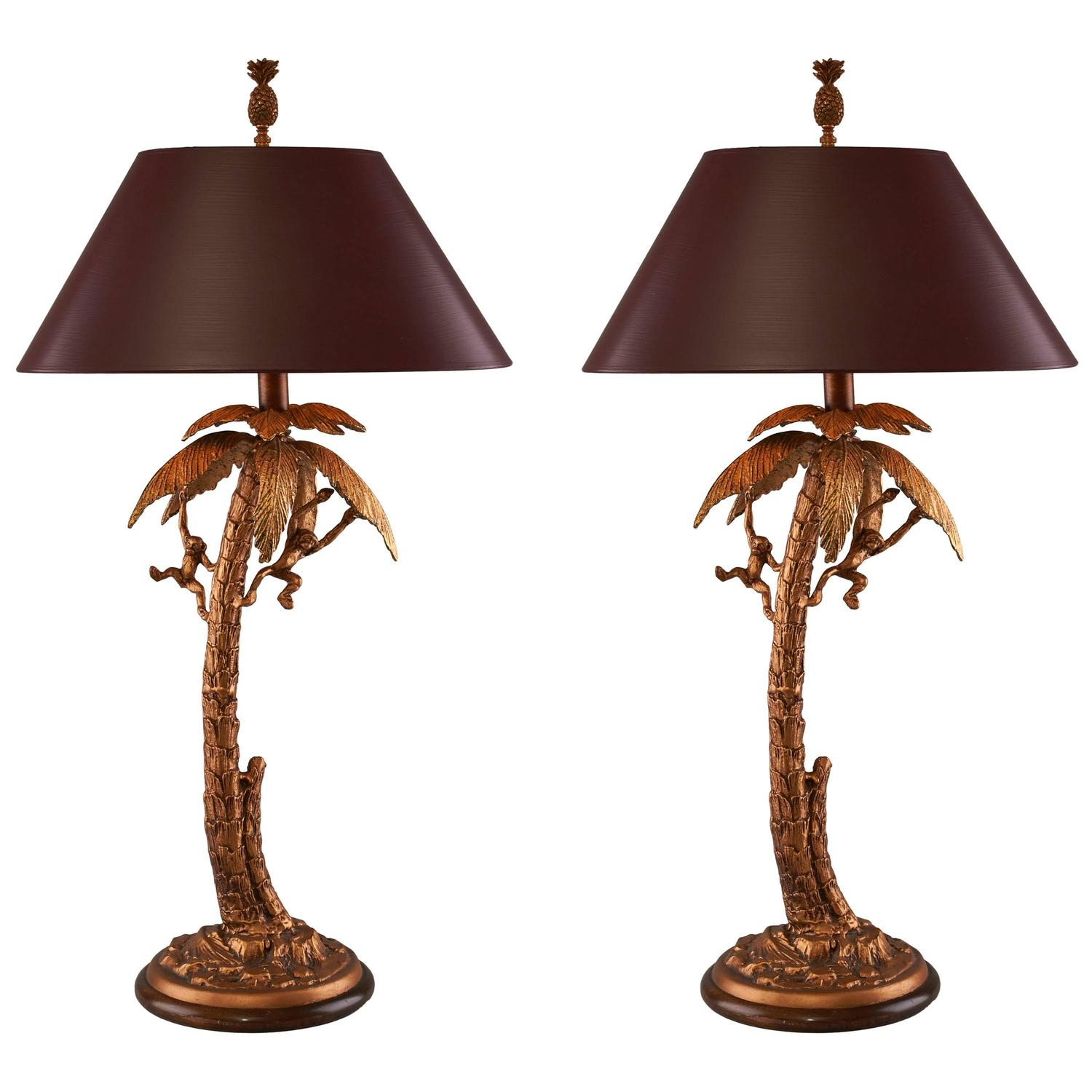 Pair of frederick cooper monkey table lamp at 1stdibs geotapseo Gallery