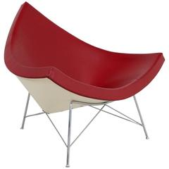 Oxblood Red Leather Coconut Chair by George Nelson for Vitra