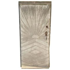18th Century French Door with Sunburst Design