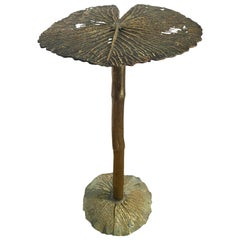 One-of-a-Kind Bronze Lily Pad Table by French Artisan