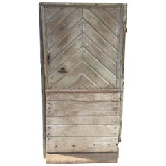 18th Century French Oak Chevron Design Door