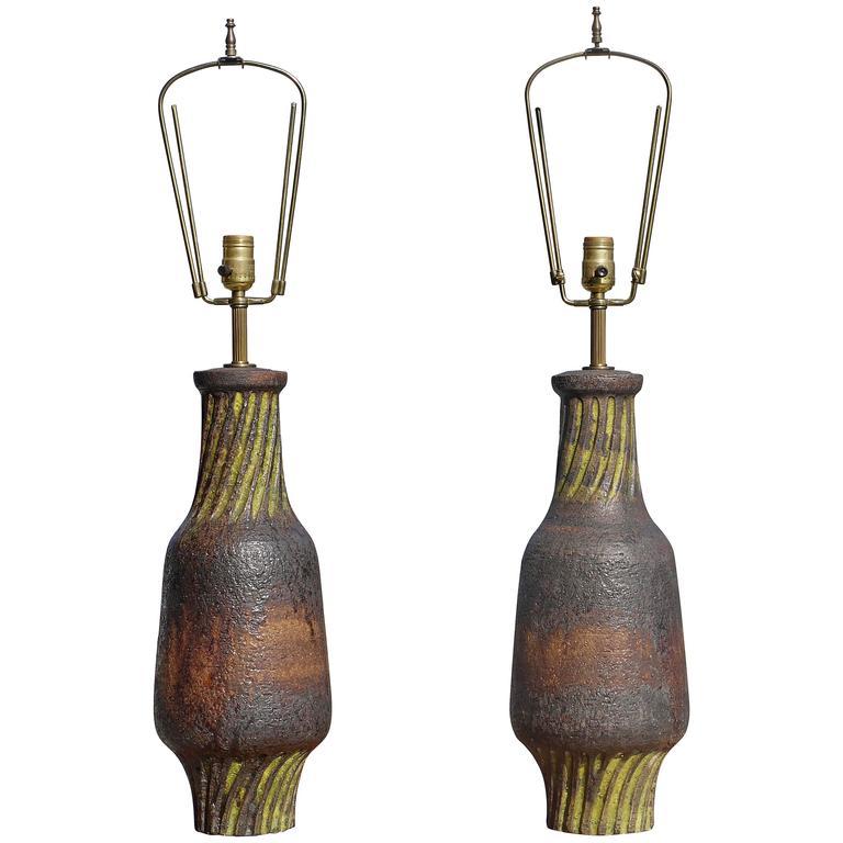 Pair of Marcello Fantoni Lamps For Sale