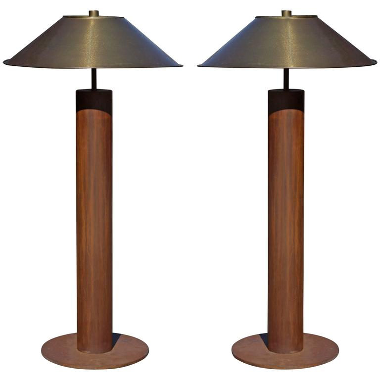 Rare Pair of Floor Lamps by Peter Preller for Tecta 1