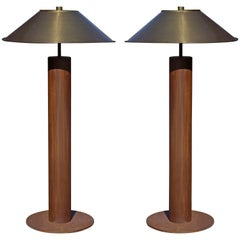 Rare Pair of Floor Lamps by Peter Preller for Tecta