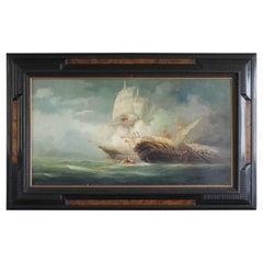 """""""Naval Combat"""" by Rudolf Claudus, 1922"""
