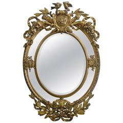 Massive Late 19th Century Carved Gesso Mirror