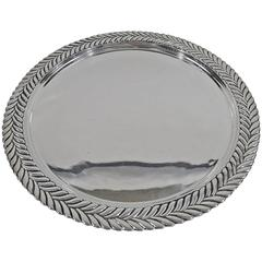 Tiffany Modern Georgian Sterling Silver Salver Tray
