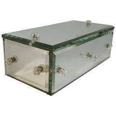 Regency Mirrored Trinket Box with Drawers, circa 1940s