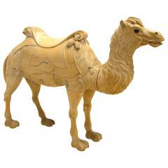 Wooden Camel Carousel Animal
