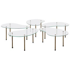 Italian Set of Five Side Tables