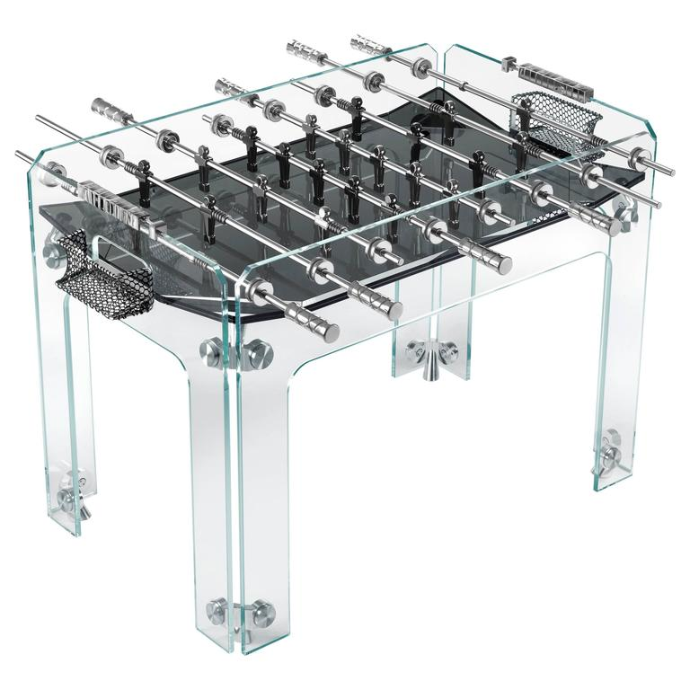 Cristallino Crystal Foosball Table With Black Field By Teckell