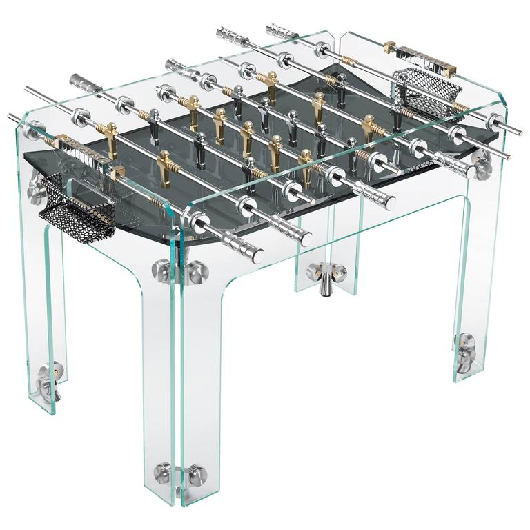 Cristallino Gold Limited Edition Foosball Table with Black Field by Teckell