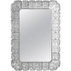 Swedish Modern Glass Mirror by Carl Fagerlund for Orrefors
