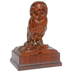 "Sculpture ""Knowledge"" Carved Oak Library Sculpture"