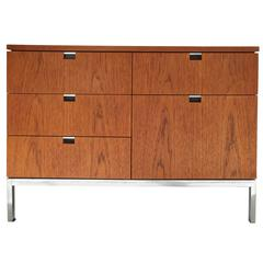 Unusual Teak Florence Knoll Storage Unit Credenza