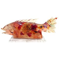 Artist Resin Fish Lamp
