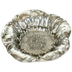 Art Nouveau Sterling Poppy Dish