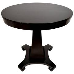 19th Century Ebonized Empire Side Table