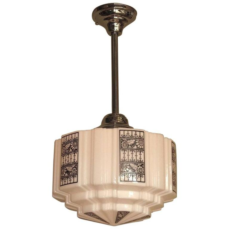 Deco Design Church Fixture Mid Size 1920s 1930s At 1stdibs
