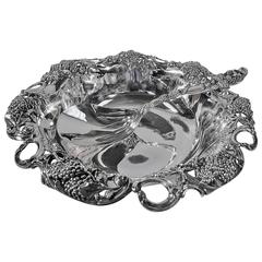 Antique Tiffany Sterling Silver Berry Bowl with Spoon