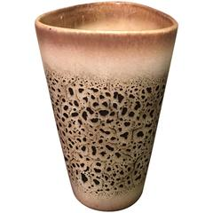 Mid-Century Modern Lava Glaze Art Pottery Vase