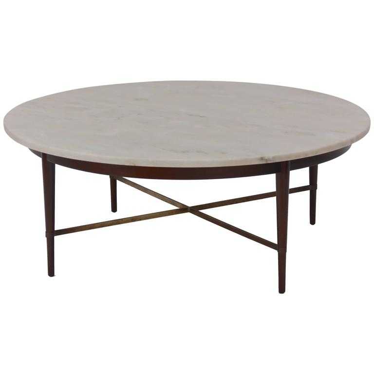 Marble and brass coffee table by paul mccobb for sale at for Cocktail tables parts