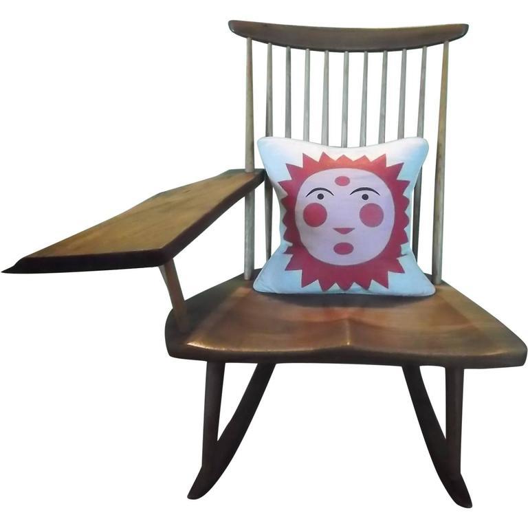 George Nakashima Live-Edge Paddle Arm Rocking Chair 1