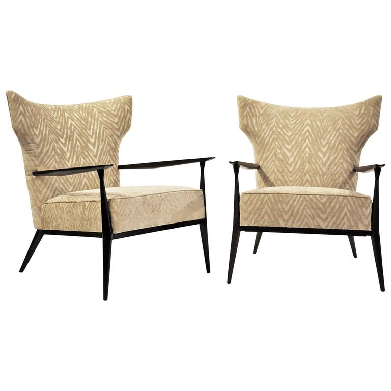Paul McCobb Armchairs Pair For Sale