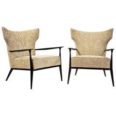 Paul McCobb Pair of Sculpted Armchairs