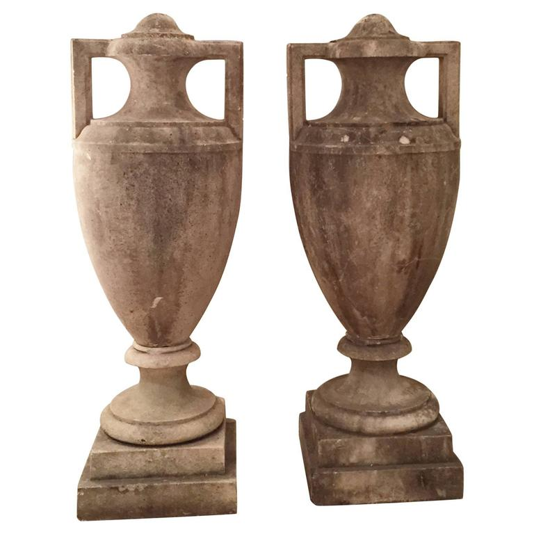 Pair of Stone Vases, France, ca. 1900 1