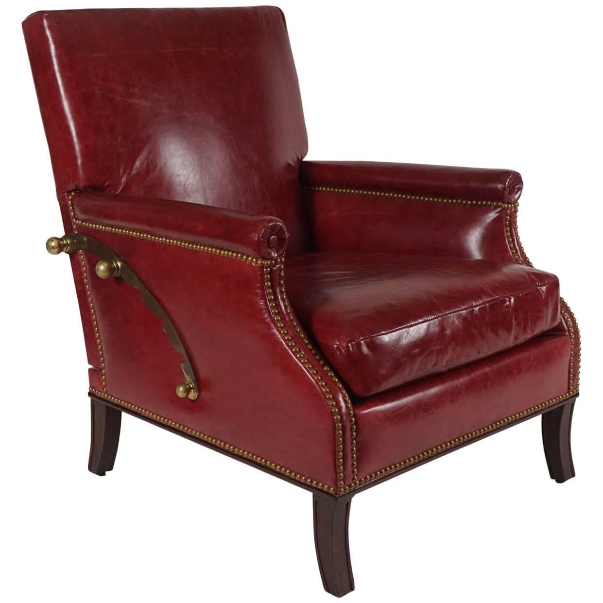 Rare Adjustable Reclining Leather Chair by Maurice Hirsch France c. 1950 For Sale at 1stdibs  sc 1 st  1stDibs & Rare Adjustable Reclining Leather Chair by Maurice Hirsch France ... islam-shia.org