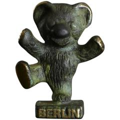 Brass Berlin Bear Figurine in the Style of Walter Bosse