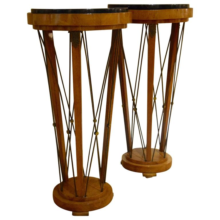 Pair of American 1940s Neo-Classical Pedestals For Sale
