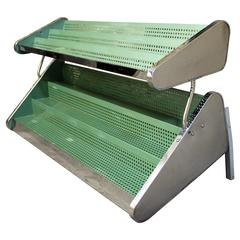 Wrigley's Gum Counter Top Display Shelving Unit, 1940s Metal and Chrome