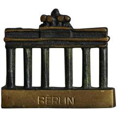 Brass Berlin Gate Figurine in the Style of Walter Bosse