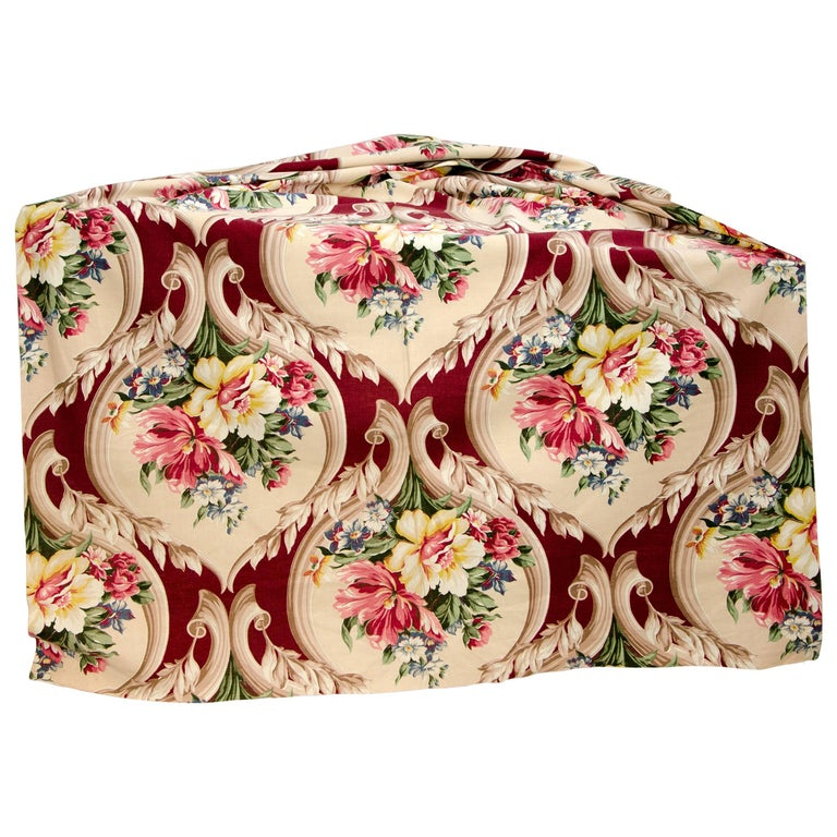 Vintage Upholstery or Drapery Fabric, Floral Pattern 10 Yards For Sale