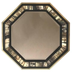 Anthony Redmile Brass and Petrified Wood Mirror