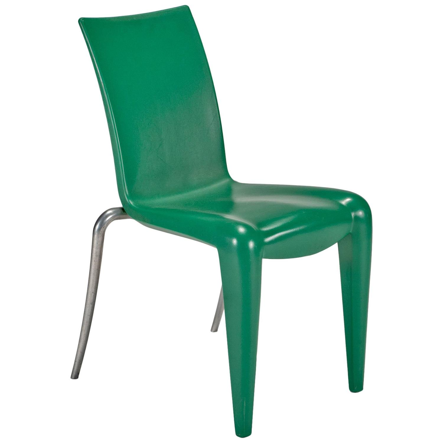 Louis 20 Side Chair Prototype in Green by Philippe Starck for