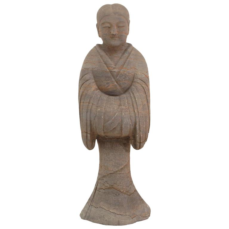 20th Century Chinese Han Style Stone Figure