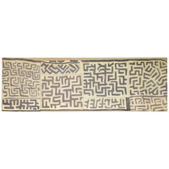8' Antique African Kuba Cloth Hanging