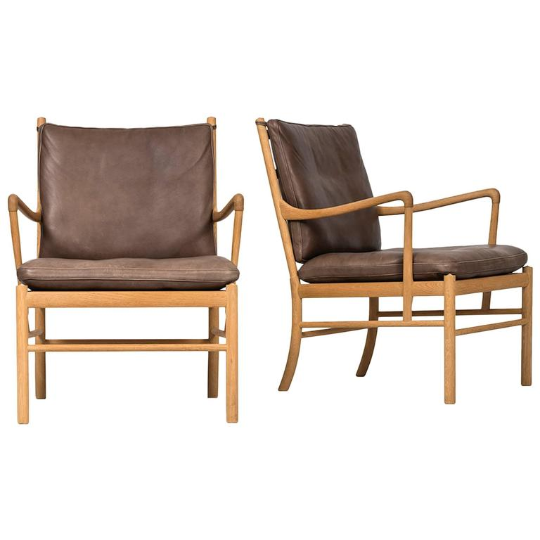 Ole Wanscher Colonial Easy Chairs By P.J. Furniture In Denmark 1