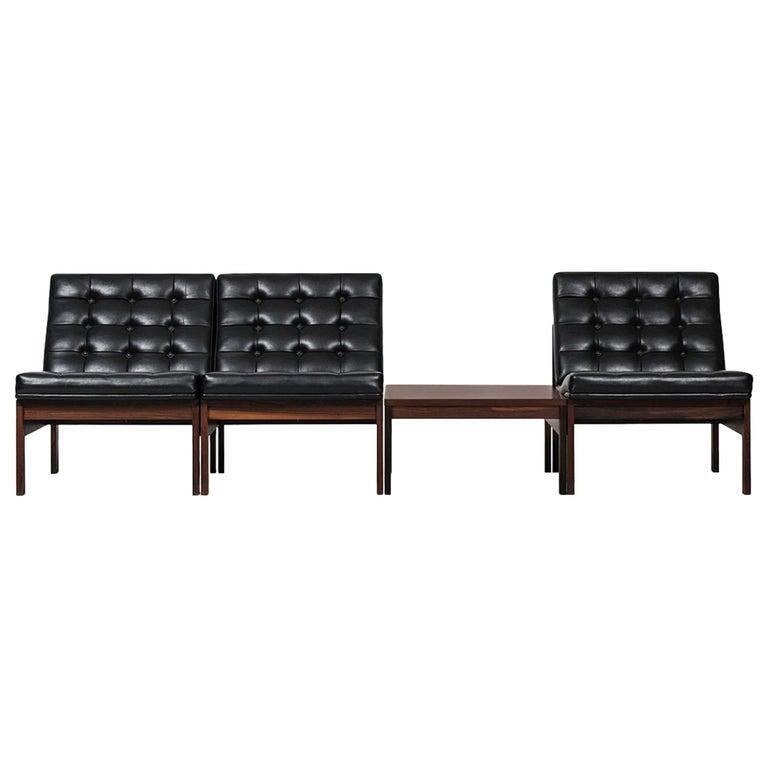 Ole Gjerløv-Knudsen & Torben Lind Seating Group/Sofa Model 175/Moduline For Sale