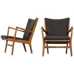 Hans Wegner Easy Chairs Model AP-16 by AP-Stolen in Denmark