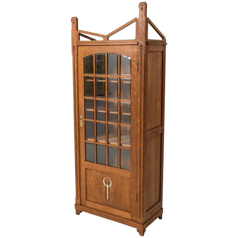 Elegant and Rare Arts & Crafts Bookcase, 1900s