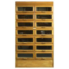 Midcentury British 14-Drawer Haberdashery Shop Cabinet