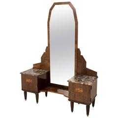 Stunning French Art Deco Vanity or Dressing Table, 1930s