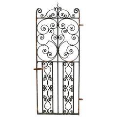 Tall Late 19th Century Wrought Iron Pedestrian Gate